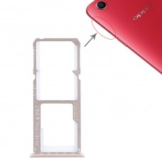 2 x SIM Card Tray + Micro SD Card Tray for OPPO A1(Rose Gold)