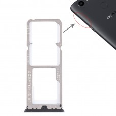 2 x SIM Card Tray + Micro SD Card Tray for OPPO A73 / F5(Black)