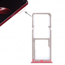 2 x SIM Card Tray + Micro SD Card Tray for OPPO A3(Red)