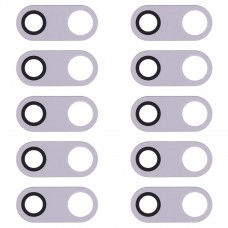 10 PCS Back Camera Lens for LG V30 H930 H933 (Silver)