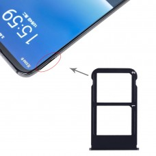SIM Card Tray + SIM Card Tray for Meizu 16 Plus (Black)