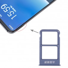 SIM Card Tray + SIM Card Tray for Meizu 16 Plus (Blue)