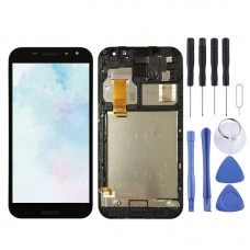LCD Screen and Digitizer Full Assembly with Frame for Vodafone Smart N8 VFD610(Black)