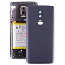 Frosted Battery Back Cover with Camera Lens for OnePlus 6(Black)