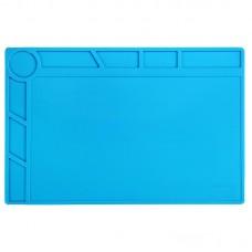 BEST-S-120 Heat-resistant BGA Soldering Station Silicone Heat Gun Insulation Pad Repair Tools Maintenance Platform Desk Mat(Blue)