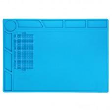 BEST-S-130 Heat-resistant BGA Soldering Station Silicone Heat Gun Insulation Pad Repair Tools Maintenance Platform Desk Mat(Blue)
