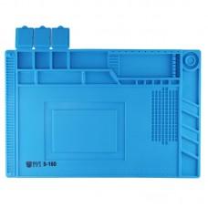 BEST-S-160 Heat-resistant BGA Soldering Station Silicone Heat Gun Insulation Pad Repair Tools Maintenance Platform Desk Mat(Blue)