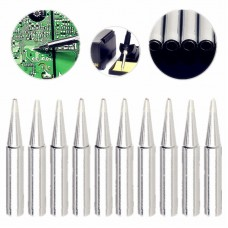 10 PCS 900M-T-B Pointed End Lead-free Electric Welding Soldering Iron Tips