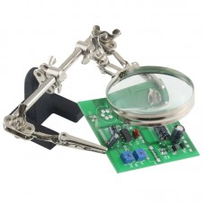 BEST Hand Soldering Stand Magnifying Glass Auxiliary Clamp Clip