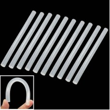 10x Practical Transparent White Hot Melt Glue Stick, Size: 270 x 11mm (10pcs in one packaging, the price is for 10pcs)