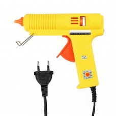 20W DIY Hot Melt Glue Adhesive Stick Industrial Electric Silicone Thermo Gluegun Repair Heat Tools with Switch, EU Plug(Yellow)
