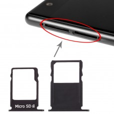 SIM Card Tray + Micro SD Card Tray for Nokia  3 TA-1020 TA-1028 TA-1032 TA-1038(Black)