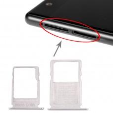 SIM Card Tray + Micro SD Card Tray for Nokia  3 TA-1020 TA-1028 TA-1032 TA-1038(Silver)