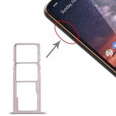 SIM Card Tray + SIM Card Tray + Micro SD Card Tray for Nokia 3.2 TA-1156 TA-1159 TA-1164 (Silver)