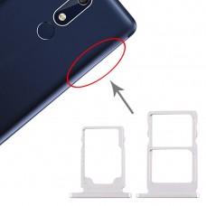 SIM Card Tray + SIM Card Tray + Micro SD Card Tray for Nokia 5.1 TA-1075 (White)