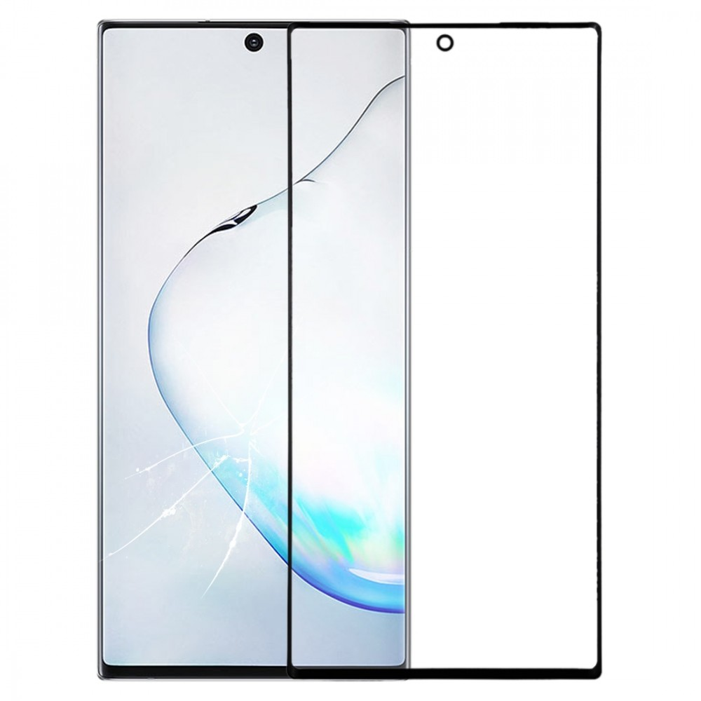 Front Screen Outer Glass Lens for Galaxy Note 10 (Black)