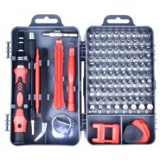 110 in 1 Magnetic Plum Screwdriver Mobile Phone Disassembly Repair Tool(Dark Gray)
