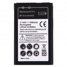 For Microsoft Lumia 435 / BV-5J 1850mAh Rechargeable Li-ion Battery