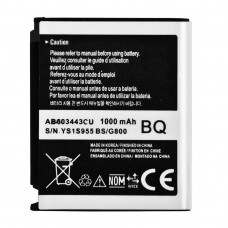 1000mAh Rechargeable Li-ion Battery for Samsung Tocco Lite / S5230