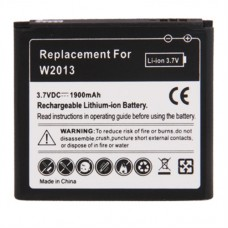 1900mAh Replacement Battery for Samsung W2013(Black)