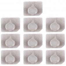10 PCS 10 PCS Microphone / Flashlight Dustproof Mesh For iPhone 11 Pro Max / 11 Pro / 11 (White)