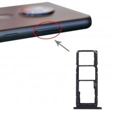 SIM Card Tray + SIM Card Tray + Micro SD Card Tray for Nokia 7.2 / 6.2 TA-1196 TA-1198 TA-1200 TA-1187 TA-1201(Black)