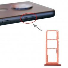 SIM Card Tray + SIM Card Tray + Micro SD Card Tray for Nokia 7.2 / 6.2 TA-1196 TA-1198 TA-1200 TA-1187 TA-1201(Orange)