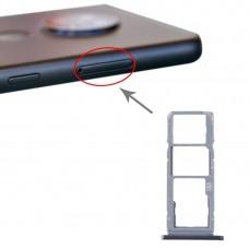 SIM Card Tray + SIM Card Tray + Micro SD Card Tray for Nokia 7.2 / 6.2 TA-1196 TA-1198 TA-1200 TA-1187 TA-1201(Silver)