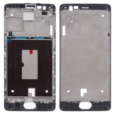 Front Housing LCD Frame Bezel Plate for OnePlus 3 (Black)
