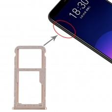 SIM Card Tray + SIM / Micro SD Card Tray for Meizu M6T(Gold)