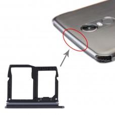 Nano SIM Card Tray + Micro SD Card Tray for LG Stylo 5 / Q720 LM-Q720MS LM-Q720TSW Q720CS (Black)