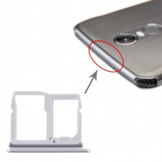 Nano SIM Card Tray + Micro SD Card Tray for LG Stylo 5 / Q720 LM-Q720MS LM-Q720TSW Q720CS (Silver)