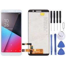 LCD Screen and Digitizer Full Assembly for Vodafone Smart E9 Lite (White)