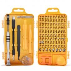 110 in 1 Watch Mobile Phone Disassembly Maintenance Tool Multi-function Chrome Vanadium Steel Screwdriver Set(Yellow)