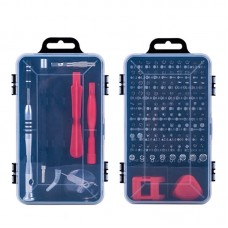 110 in 1 Watch Mobile Phone Disassembly Maintenance Tool Multi-function Chrome Vanadium Steel Screwdriver Set(Black Red)