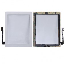 (Controller Button + Home Key Button PCB Membrane Flex Cable + Touch Panel Installation Adhesive)  Touch Panel for New iPad (iPad 3)(White)