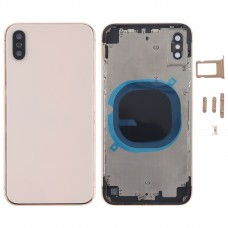 Back Housing Cover with SIM Card Tray & Side keys for iPhone X