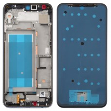 Front Housing LCD Frame Bezel Plate for LG K50 / K12 MAX / LMX520BMW / LMX520EMW(Double SIM Version)(Silver)