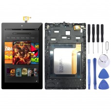 LCD Screen and Digitizer Full Assembly With Frame for Amazon Kindle Fire HD 7 2017 SR043KL (Black)