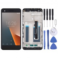 LCD Screen and Digitizer Full Assembly With Frame for Vodafone Smart V8 / VFD710 (Black)
