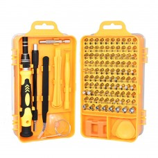 115 in 1 Precision Screw Driver Mobile Phone Computer Disassembly Maintenance Tool Set(Yellow)